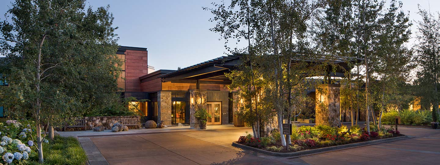Front Entrance To The Allison Inn And Spa In Willamette Valley Oregon